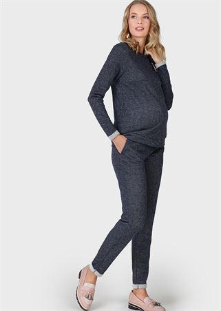 """Изображение Костюм """"Лилит"""" для беременных и кормящих; цвет: синий люрекс"""