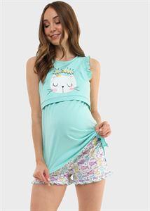 """Изображение Комплект для дома """"Лия"""" для беременных и кормящих; цвет: бирюзовый"""