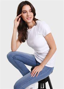 """Bild von T-Shirt """"Vesta"""" für Schwangere und Stillende; weiße Farbe"""