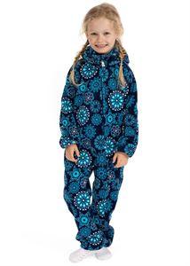 """Image de Salopettes pour enfants en polaire """"Classic""""; couleur: bleu avec des flocons de neige"""