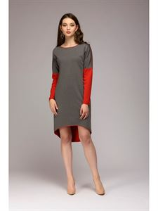 Picture of Dress DM00480CG multilevel double-sided coral-gray