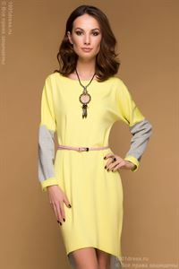 Picture of Dress DM00480YG multilevel two-way yellow-grey