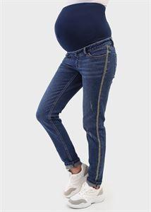 """Изображение Джинсы """"Стайл 050"""" для беременных; цвет: темный деним"""