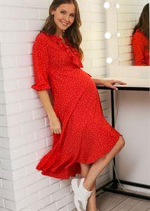 """Изображение Платье """"Николь"""" для беременных и кормящих; цвет: красный"""