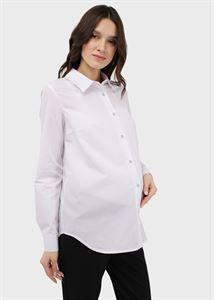 """Изображение Блузка (рубашка) с длинным рукавом для беременных и кормления """"Арина""""; белый"""