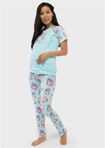 """Изображение Комплект для дома (футболка, брюки) для беременных и кормления """"Лукас""""; лазурный"""