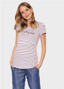 """Изображение Футболка """"Хелен"""" для беременных и кормящих; красная полоса"""