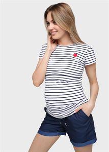 """Изображение Футболка """"Хелен"""" для беременных и кормящих; синяя полоса"""