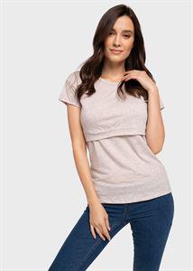 Obrazek T-shirt dla karmiących Dani; kolor bezowy