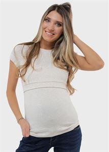 """Изображение Футболка """"Веста"""" для беременных и кормящих; цвет: бежевый"""