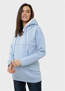 """Bild von Isoliertes Sweatshirt """"Edelia"""" für schwangere und stillende Frauen; blaue Farbe"""
